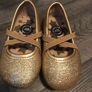Livie and Luca Gold Flats